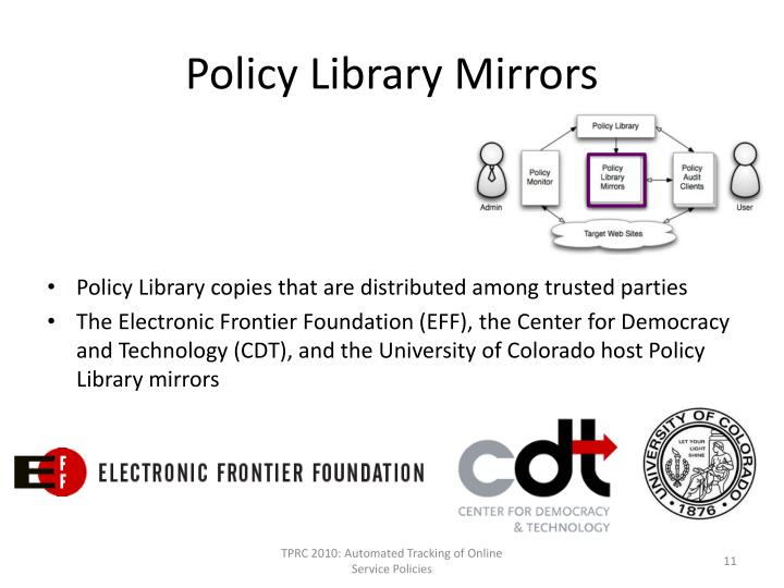 Policy Library Mirrors