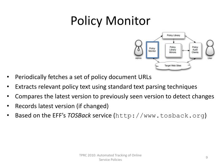 Policy Monitor