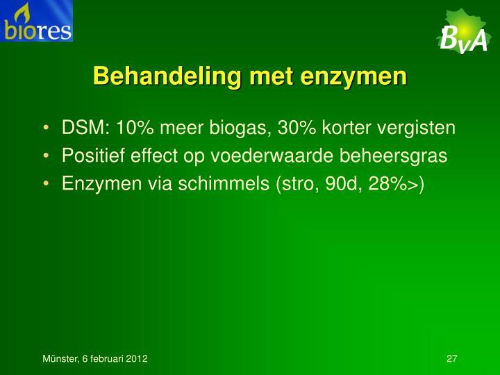 Behandeling met enzymen