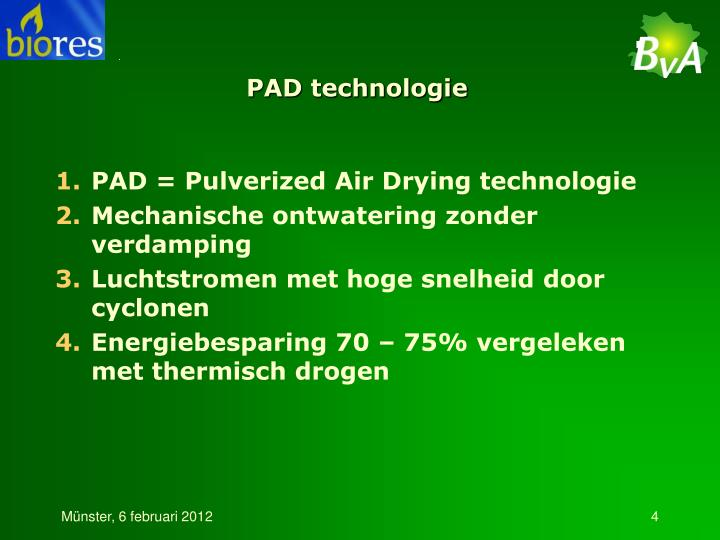 PAD technologie