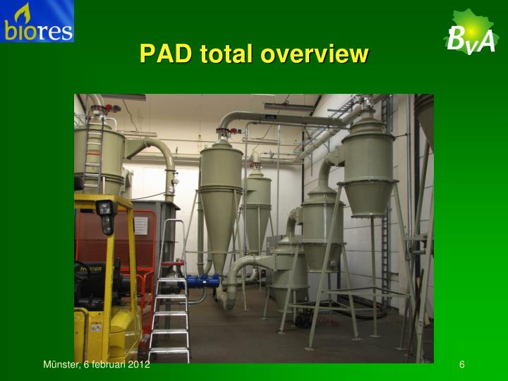 PAD total overview