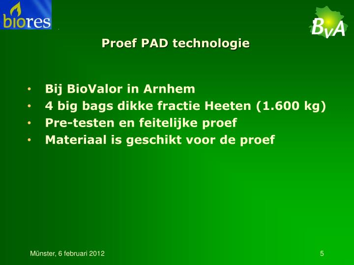Proef PAD technologie