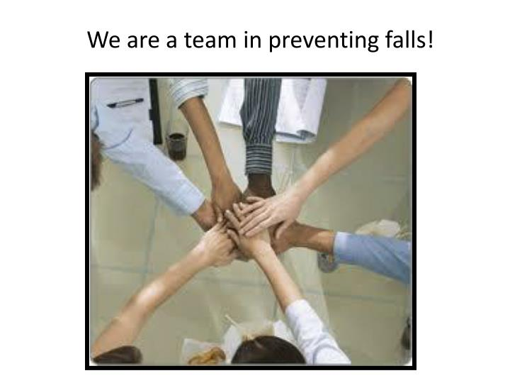 We are a team in preventing falls!