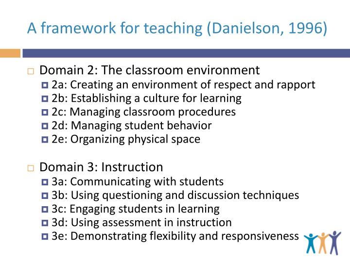 A framework for teaching (Danielson, 1996)