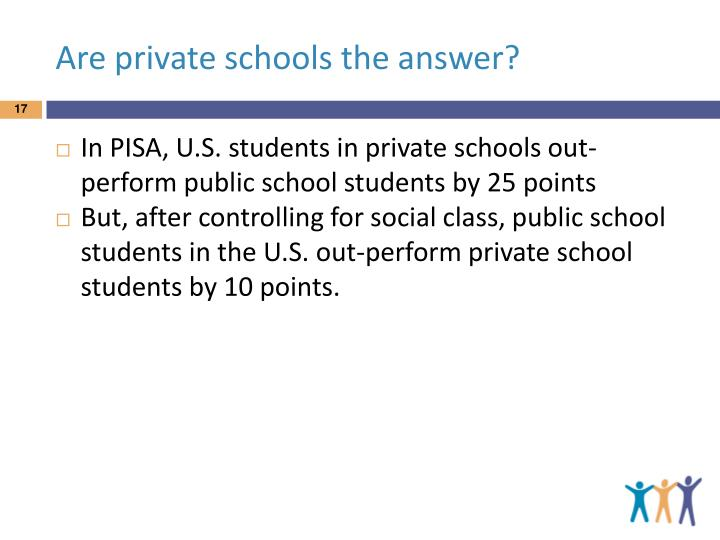 Are private schools the answer?