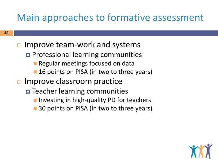 Main approaches to formative assessment