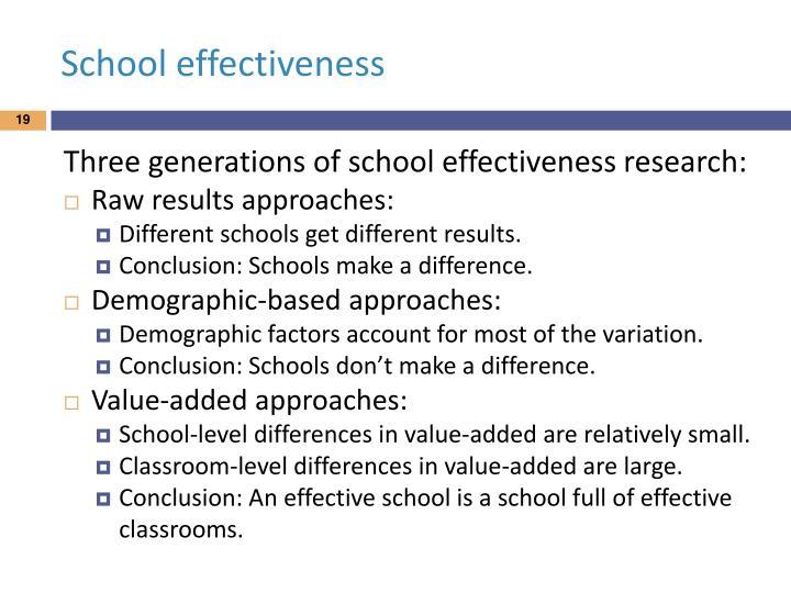 School effectiveness