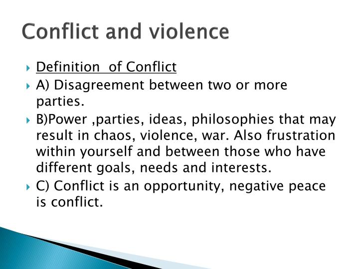Conflict and violence