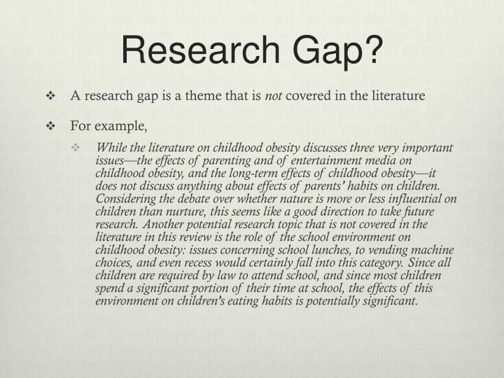 Research Gap?