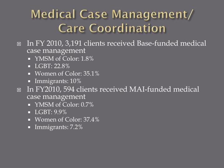 Medical Case Management/