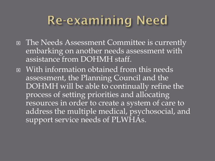 Re-examining Need