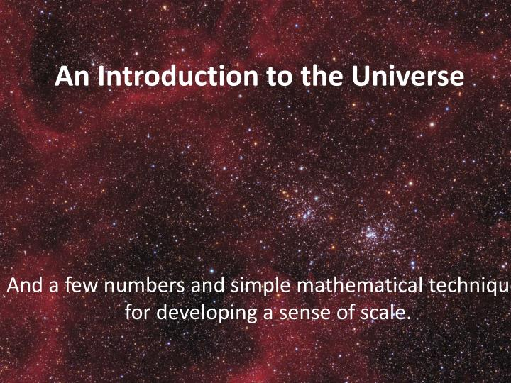 An introduction to the universe