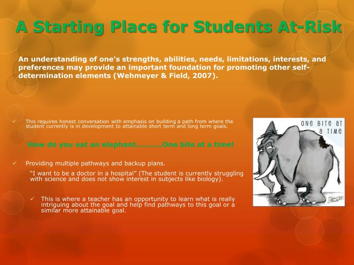 A Starting Place for Students At-Risk