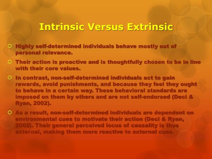 Intrinsic Versus Extrinsic