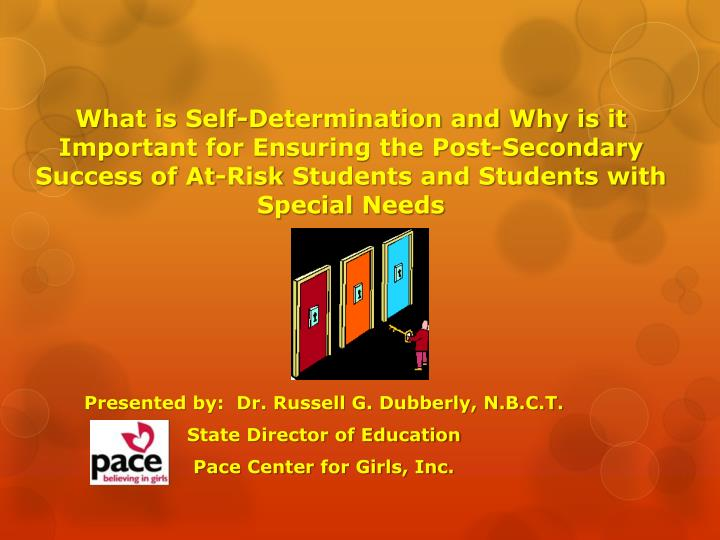 What is Self-Determination and Why is it Important for Ensuring the Post-Secondary