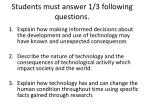 students must answer 1 3 following questions