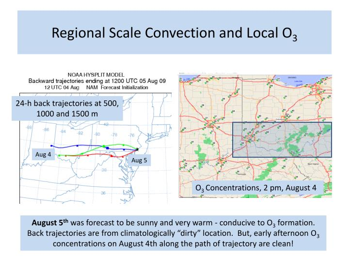 Regional Scale Convection and Local O