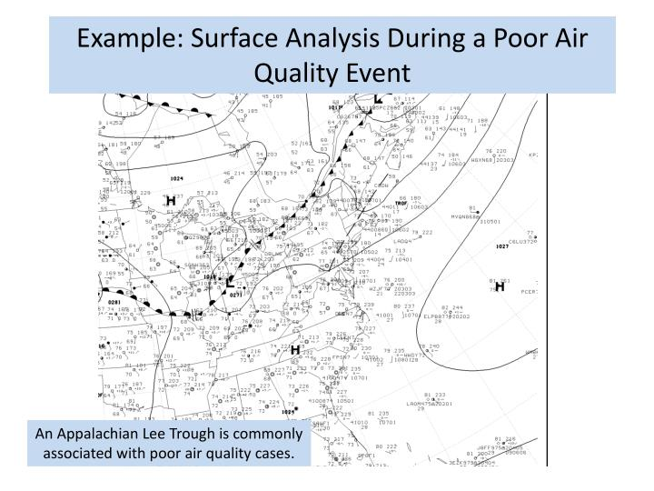 Example: Surface Analysis During a Poor Air Quality Event