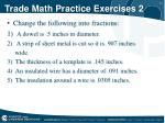 trade math practice exercises 2