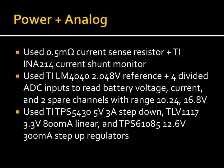 Power + Analog