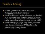 power analog