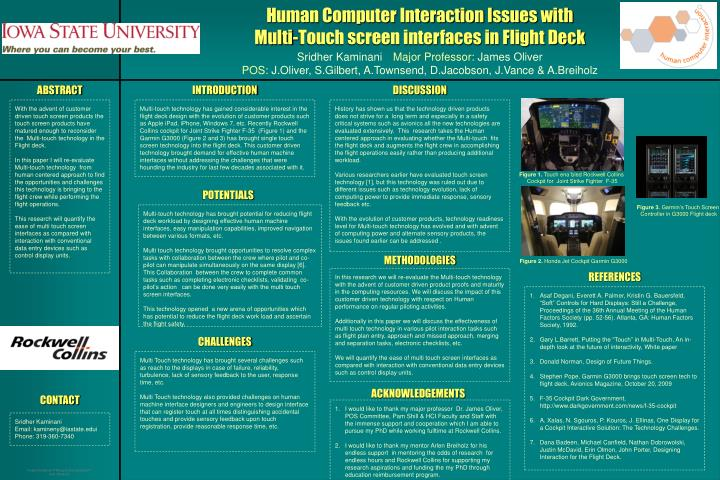 Human Computer Interaction Issues with