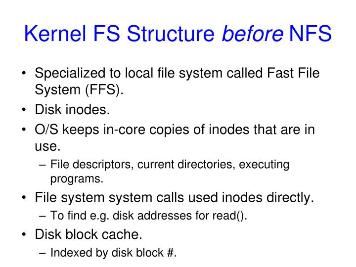 Kernel FS Structure