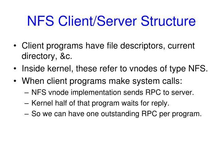 NFS Client/Server Structure