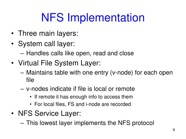 NFS Implementation