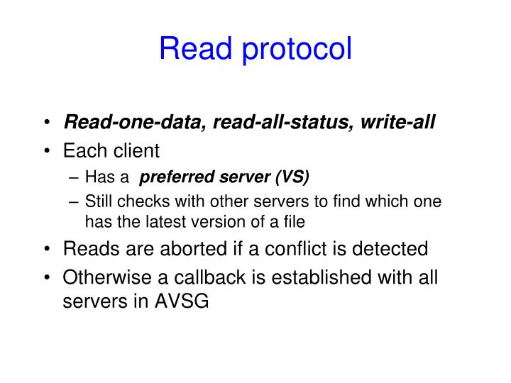 Read protocol