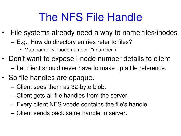 The NFS File Handle