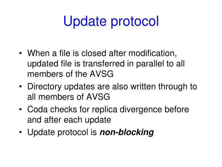 Update protocol