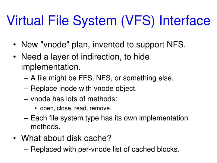 Virtual File System (VFS) Interface