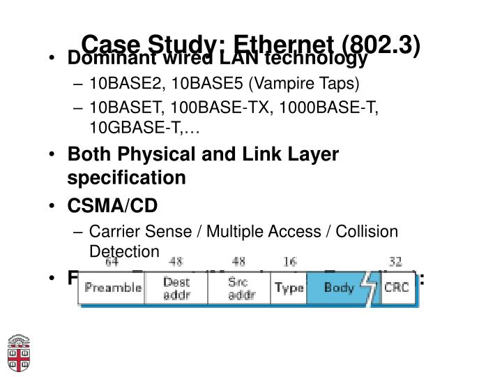 Case Study: Ethernet (802.3)