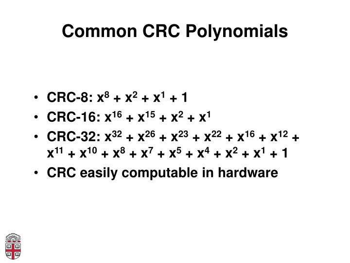 Common CRC Polynomials