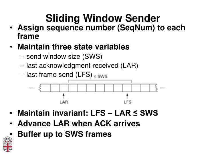 Sliding Window Sender