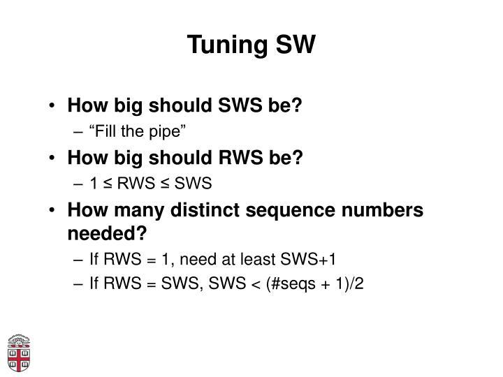 Tuning SW
