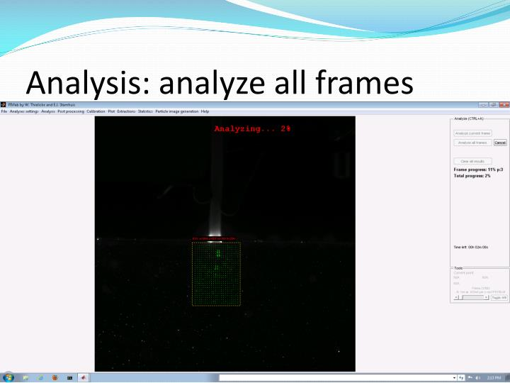 Analysis: analyze all frames