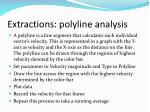 extractions polyline analysis