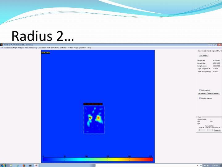 Radius 2…
