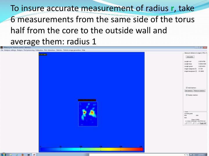 To insure accurate measurement of radius