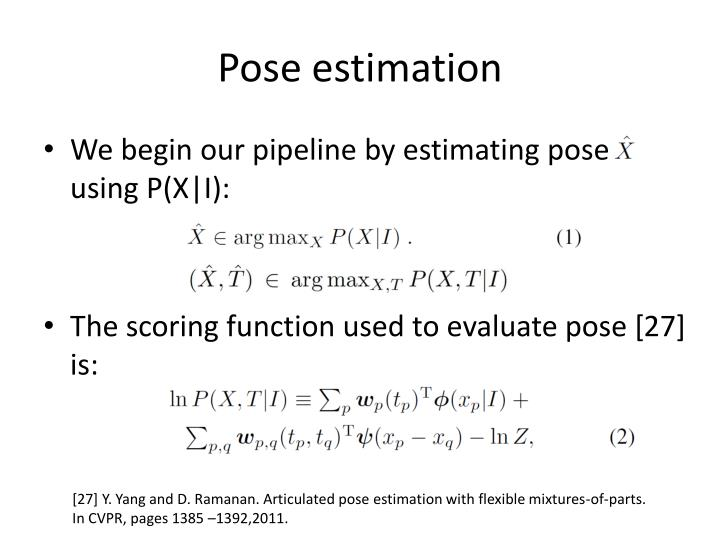 Pose estimation