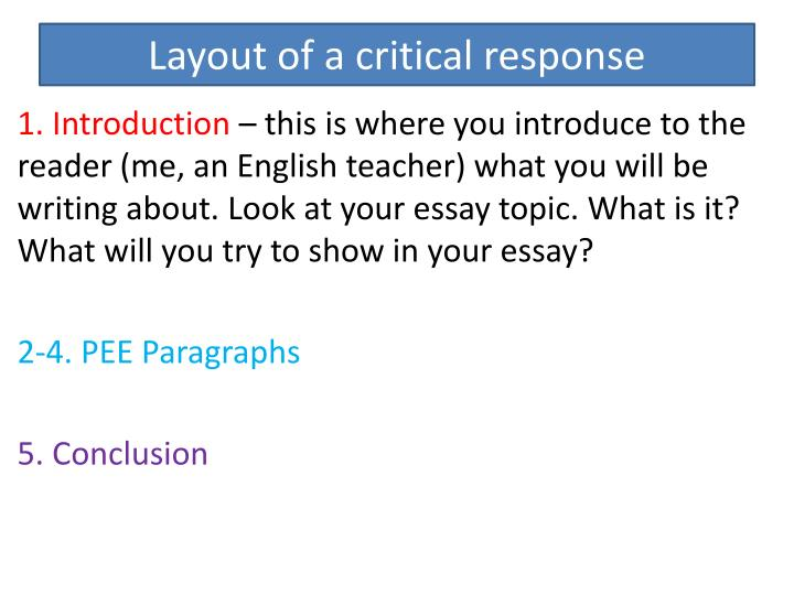 response essay introduction