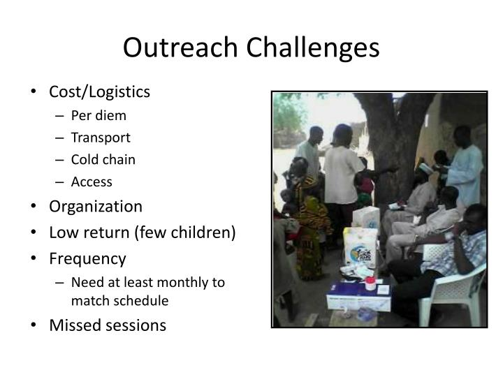 Outreach Challenges