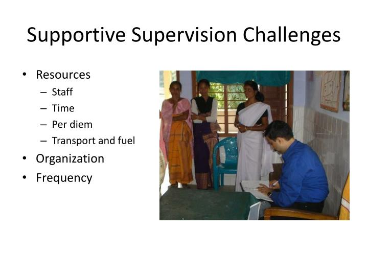 Supportive Supervision Challenges
