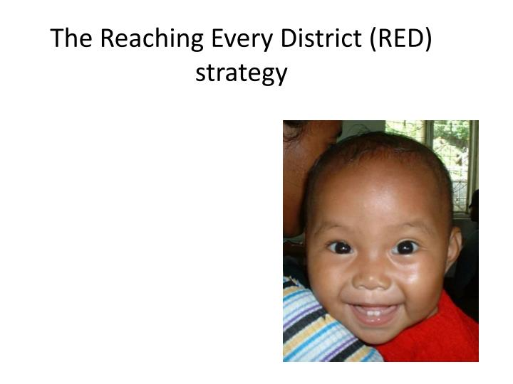 The reaching every district red strategy