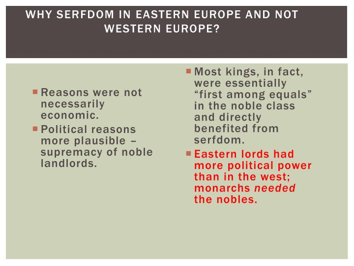 absolutism in eastern and western europe Both western and eastern europe developed forms of these monarchs, with the  east continuing its stagnation in the medieval period important documents.