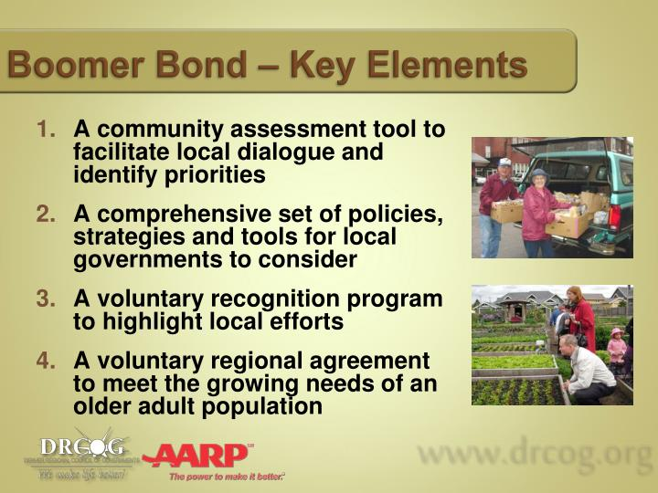 Boomer Bond – Key Elements