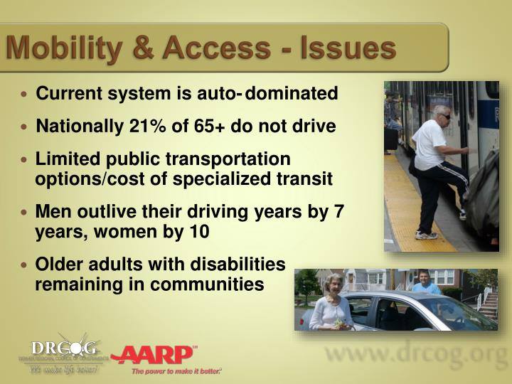 Mobility & Access - Issues