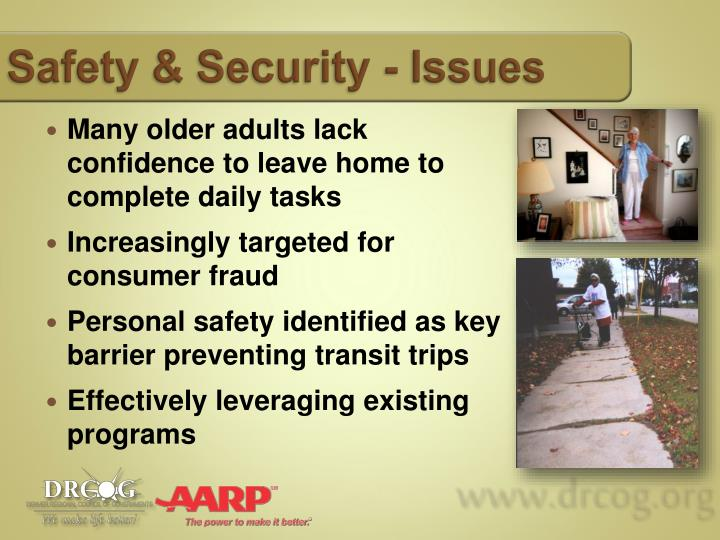 Safety & Security - Issues